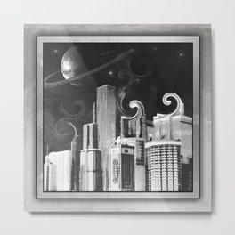 Swirl City Metal Print