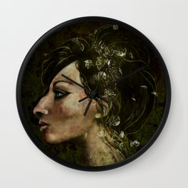 The Bride of Glass Blossoms Wall Clock