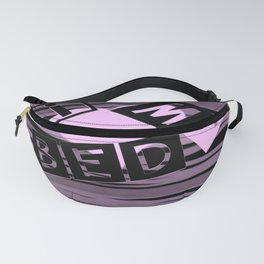I Love My Bed in pink Fanny Pack