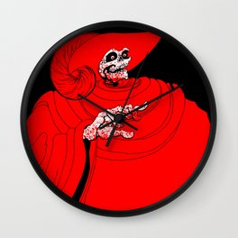 The Red Death Wall Clock