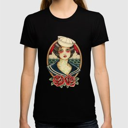 Sailor Girl Tattoo T-shirt