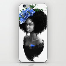 Blossom afro iPhone & iPod Skin