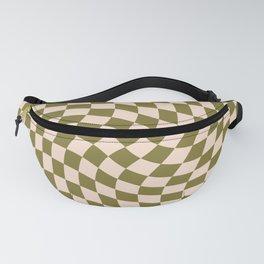 Check VI - Green Twist — Checkerboard Print Fanny Pack