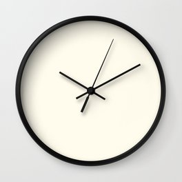 Creamy Off-White Single Solid Color HGTV 2021 Color Of The Year Suggested Accent Shade Bohemian Lace Wall Clock