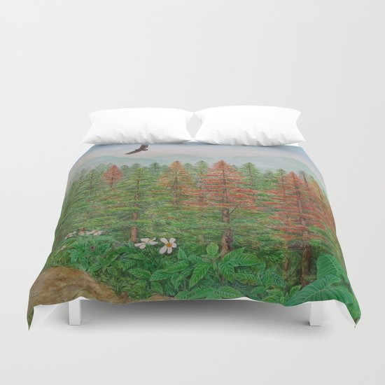 A Day of Forest(8). (coniferous forest) Duvet Cover