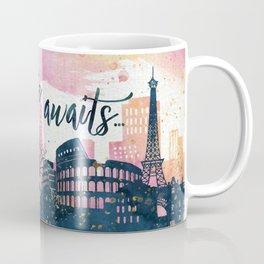 Adventure Awaits Watercolor Coffee Mug