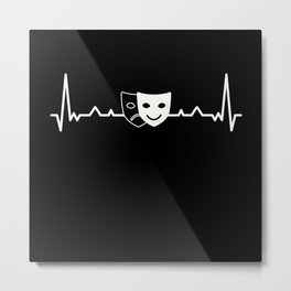 Melpomene & Thalia Theater masks Gift Metal Print