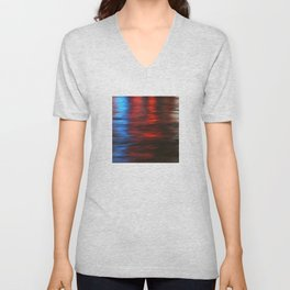 Citylights: Hong Kong Harbour #1 - RIGHT - Diptychon Unisex V-Neck