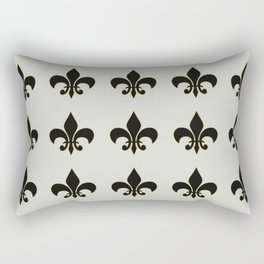 Fleur de lis.... ivory,gold and black Rectangular Pillow