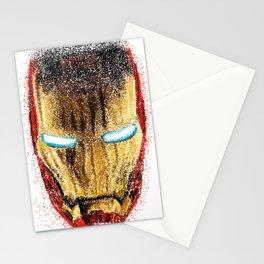 Iron Man Pointillism Stationery Cards