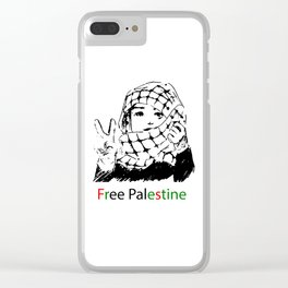 Freedom for Palestine Clear iPhone Case
