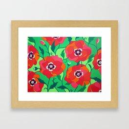 FLOWER RED (POPPIES) Framed Art Print