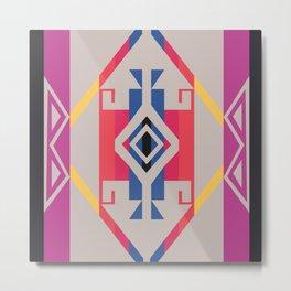 American Native Pattern No. 258 Metal Print