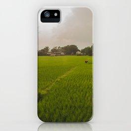 The Rice Paddies of Nepal 001 iPhone Case