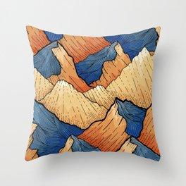 The Sea Peak Pattern Throw Pillow