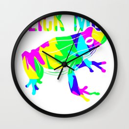 Lick Me Psychedelic frog Wall Clock