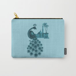 Blue peacock oriental dream Carry-All Pouch