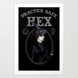 Practice Safe Hex Art Print