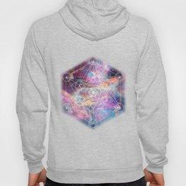 Watercolor and nebula sacred geometry  Hoody