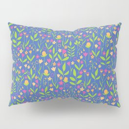 Pop Bold Playful Ditzy All Over Floral Pattern Pillow Sham