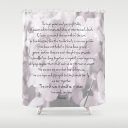 Through years and passing tides Shower Curtain