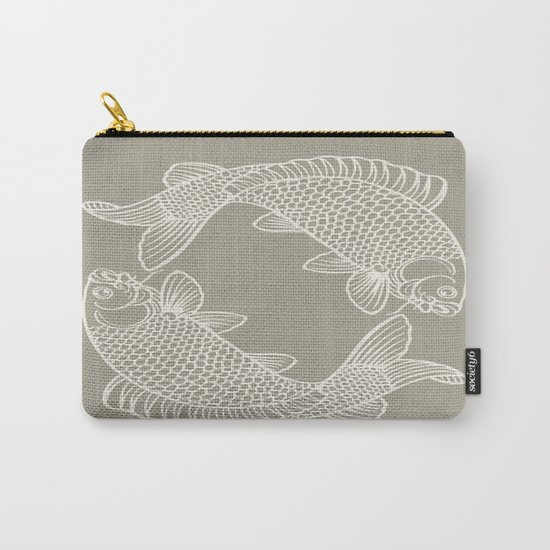 Koi Alabaster Blue Gray Carry-All Pouch