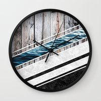 Striped Materials of Nature I Wall Clock