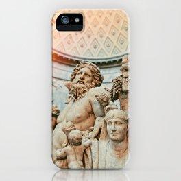 Golden Light Exposure over Greek/Roman White Marble Statue iPhone Case
