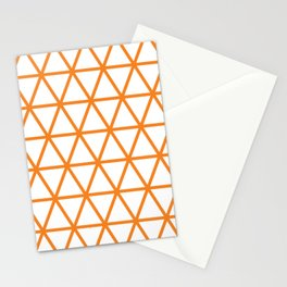 Orange Triangle Pattern 2 Stationery Cards