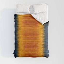 N249 - Orange Blue Oriental Vintage Boho Moroccan Style Comforters