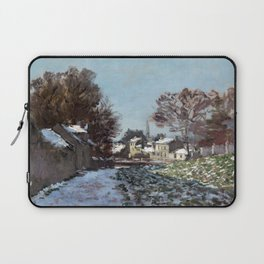 Claude Monet, Snow, Argenteuil, france, french, landscape, nature, natural, winter, cold, ice, impre Laptop Sleeve