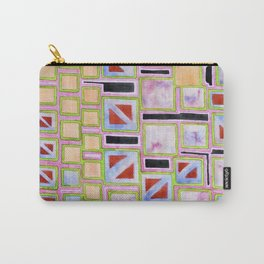 Composition out of Three Kind of Squares Carry-All Pouch