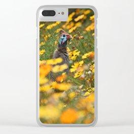 southafrica ... flowers, flowers and a guineafowl Clear iPhone Case