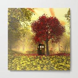 Tardis autumn Metal Print