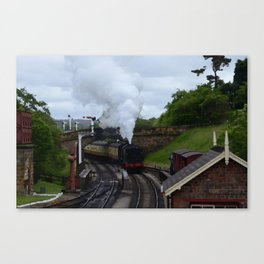 Steam Train In Yorkshire Canvas Print