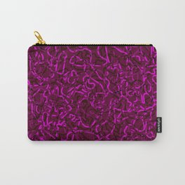 Chaotic bright tangled ropes and pink dark lines. Carry-All Pouch