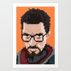 Gordon Freeman portrait Art Print