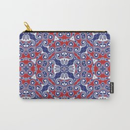 Edwardian Geo Repeat Carry-All Pouch