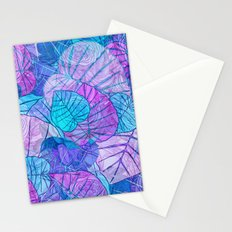 Leaves in Rosy Background Stationery Cards