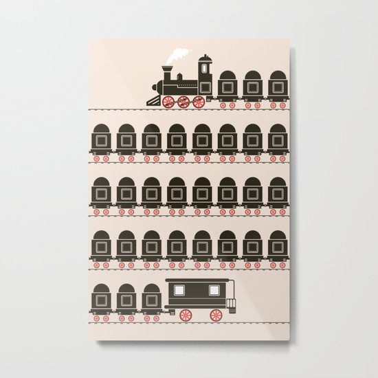 Stretched Out Locomotive  Metal Print