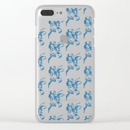 Follow the Herd All Over Blue #761 Clear iPhone Case