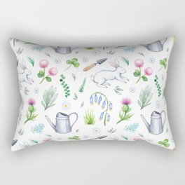 Garden Rabbits Rectangular Pillow