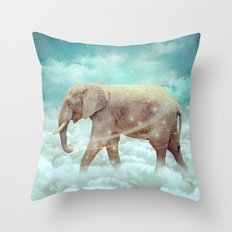 Walk With the Dreamers (Elephant in the Clouds) Throw Pillow