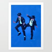 blues brothers Art Prints featuring Blues Brothers by Dave Collinson