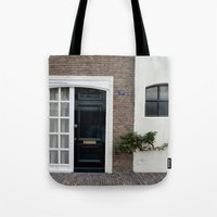 door Tote Bags featuring Door by Marieken