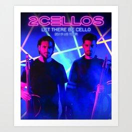 2 cellos tour 2019 halim Art Print