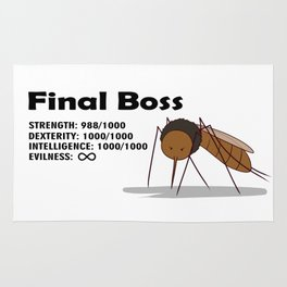 Final Boss - Black Letters Rug