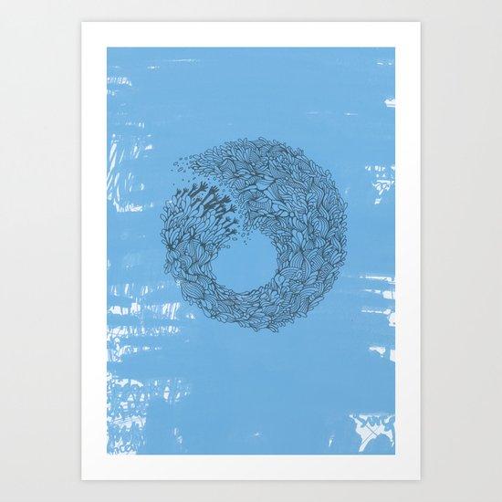 Home Blue Art Print