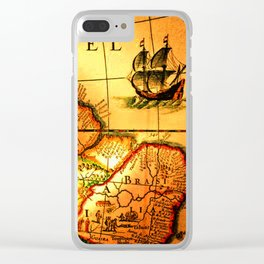 map sea Clear iPhone Case