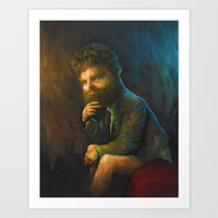 Zach Galifianakis Art Print